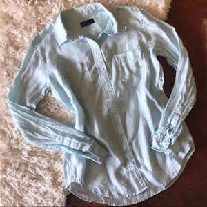 Gap | Linen Boyfriend Shirt Daybreak Blue